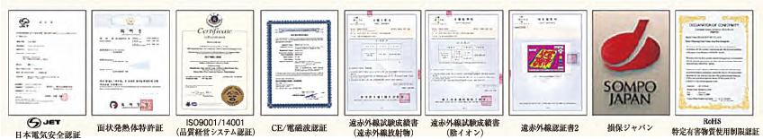 海外基準での認証